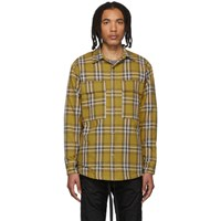 Fear Of God Yellow Flannel Plaid Shirt Jacket