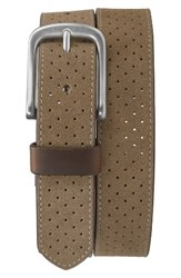 Trask Men's Suede Belt Taupe