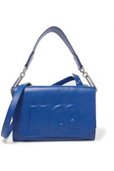 Mcq By Alexander Mcqueen Embossed Leather Shoulder Bag Royal Blue