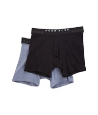Hugo Boss Boxer Brief 2 Pack Solid Black Grey Men's Underwear