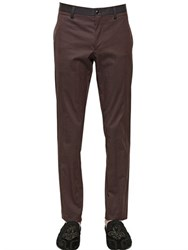 Dolce And Gabbana Cotton Gabardine Pants