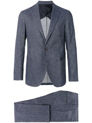 Doppiaa Two Piece Suit Blue