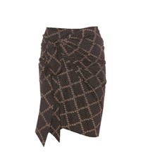 Etoile Isabel Marant Jayda Cotton Wrap Skirt Black