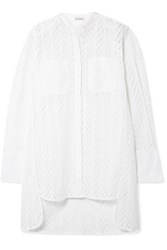 By Malene Birger Moa Asymmetric Oversized Broderie Anglaise Cotton Tunic White