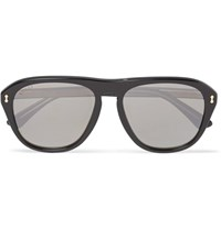 Gucci Aviator Style Acetate Mirrored Sunglasses Black