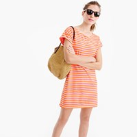 J.Crew Short Sleeve Striped Cotton Dress