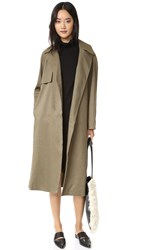 Club Monaco Farrah Trench Coat Army Green