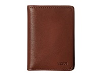 Tumi Chambers Gusseted Card Case Teak Credit Card Wallet Brown