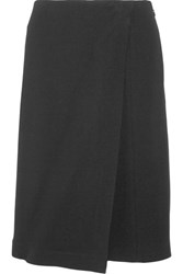 Narciso Rodriguez Wrap Effect Stretch Crepe Shorts Black