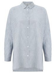 Minimum Mounia Thin Stripe Shirt Faded Denim