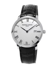 Frederique Constant Slimline Automatic Self Wind Stainless Steel Watch Black