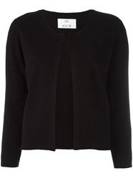 Allude Open Front Cardigan Black