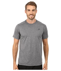 New Balance Short Sleeve Heather Tech Tee Black Heather Men's T Shirt