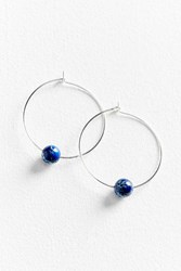 Urban Outfitters Genuine Stone Large Hoop Earring Blue