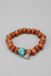 Profound Aesthetic Wood Bead Bracelet Brown