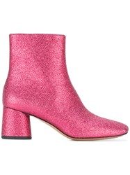 Marc Jacobs Valentine Ankle Boots Pink Purple