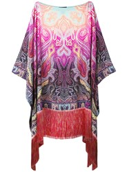 Etro Printed Fringed Tunic Women Silk Viscose One Size