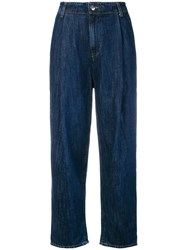 Caban Romantic High Waisted Wide Leg Jeans Blue