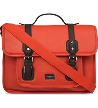 Ted Baker Buckled Satchel Orange