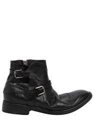 Ink Shoes Cowboy Leather Ankle Boots