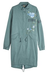 True Religion Embroidered Parka Coat Gr. Xs