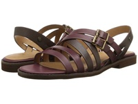Bass Amidy Oxblood Cocoa Atanado Leather Women's Sandals Brown