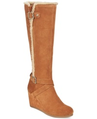 Giani Bernini Pippie Wedge Boots Only At Macy's Women's Shoes Fawn
