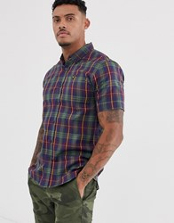 Voi Jeans Short Sleeved Checked Shirt Green