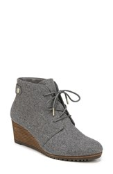 Dr. Scholl's Conquer Wedge Bootie Grey Fabric