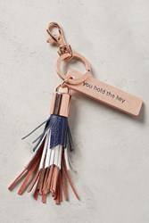 Anthropologie Idiom Keychain Navy