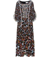 Peter Pilotto Printed Lace Silk Gown Multicoloured