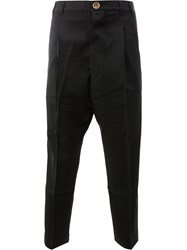 Song For The Mute Cropped Trousers Cotton Wool Black