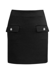 Love Moschino Star Detail Ribbed Skirt Black