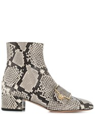 Bally Python Ankle Boots Grey