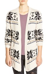 Element 'Rebecca' Geo Pattern Cardigan Sand