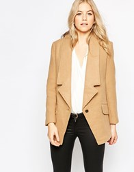 Parka London Wool Tuxedo Coat Beige