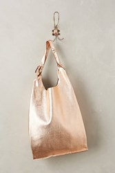 Anthropologie Reversible Leather Tote Rose