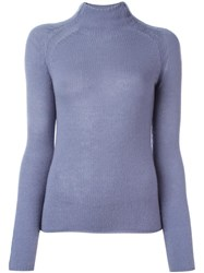 Forte Forte Slim Fit Turtleneck Jumper Pink Purple