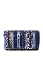 Santi Stripe Bead Clutch Blue