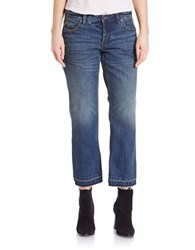Free People Cropped Flare Boyfriend Jeans Jacob Blue