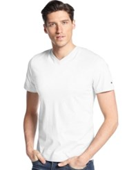 Tommy Hilfiger Big And Tall Elmira V Neck T Shirt Classic White