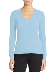 Lord And Taylor Plus Basic V Neck Cashmere Sweater Blue Coast