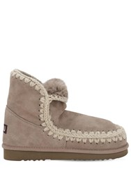 Mou 10Mm Eskimo 18 Shearling Boots Taupe