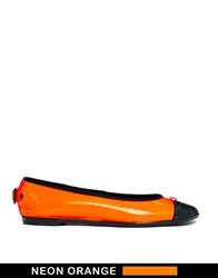 Hunter Curzon Neon Orange Flat Shoes Neonorange