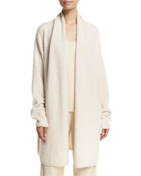 Vince Textured Shawl Cardigan Off White
