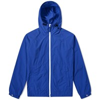 Aspesi Nylon Garment Dyed Hooded Jacket Blue