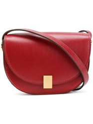 Victoria Beckham Contrast Shoulder Bag Women Calf Leather Calf Suede One Size Red