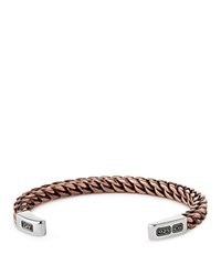 David Yurman Men's Woven Cuff Bracelet With Copper And Sterling Silver
