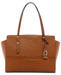 Guess Devyn Large Satchel Cognac