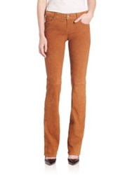 J Brand Mid Rise Suede Boot Cut Jeans Maple